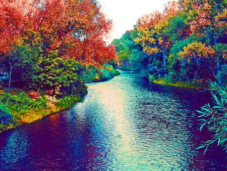Poudre River- Martinez Park Photo Art by TVS