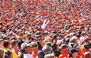 CSU Rams 2011 4 Sea of Orange by TVS
