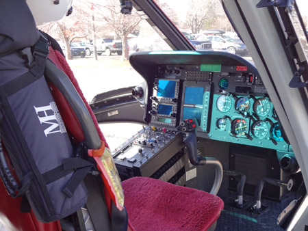 Medical Center of the Rockies Air Link cockpit 2014 by TVS