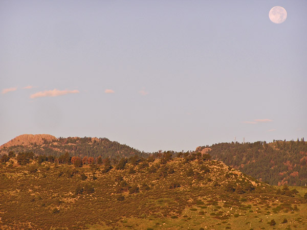 Moon Over Horsetooth 2011 by TVS